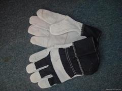 jean cotton cowhide glove