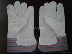 full palm cow split leather rigger glove