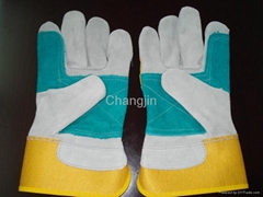 double palm cowhide working glove
