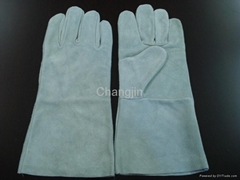 economic pure cow leather welding glove