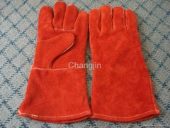 red cow leather welding glove