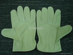 Pig leather glove for driver
