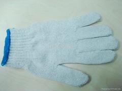 white cotton glove knited glove seamless glove