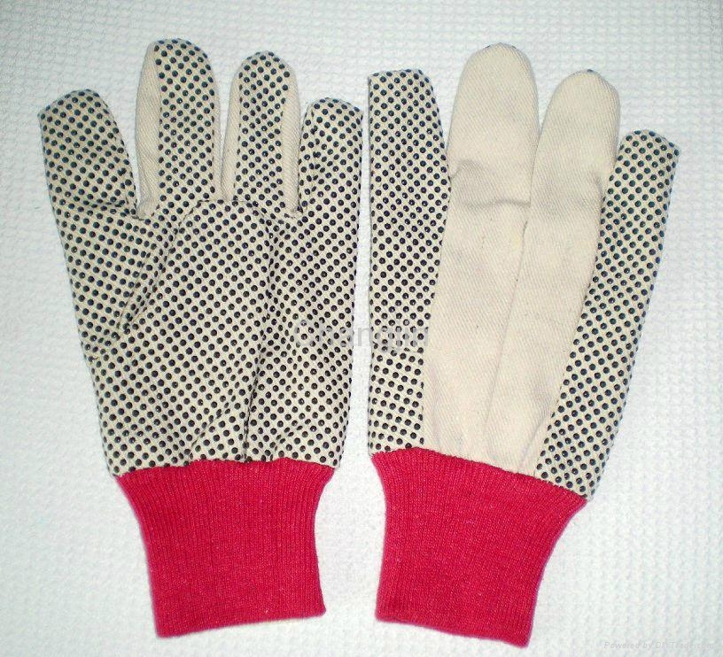 PVC dotted cotton glove for worker 1
