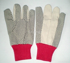 PVC dotted cotton glove for worker