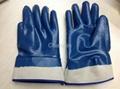 blue nitrile glove with safety cuff