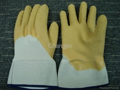 yellow color latex glove