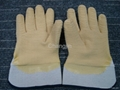 yellow color latex glove full coated rubber glove 2