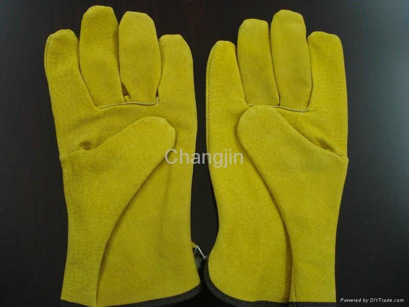cow grain leather driver glove 4