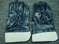 blue nitrile glove with safety cuff 2