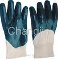 blue nitrile glove with safety cuff 4