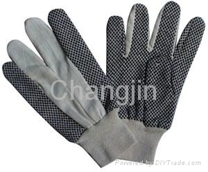 PVC dotted cotton glove for worker 4