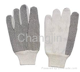 PVC dotted cotton glove for worker 5