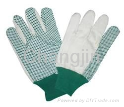 PVC dotted cotton glove for worker 2