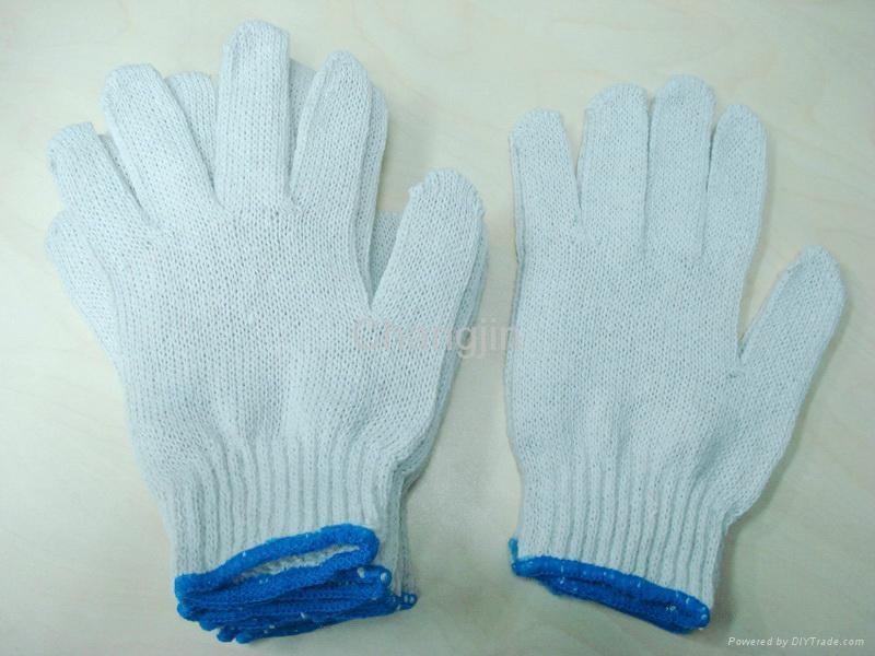 white cotton glove knited glove seamless glove 2