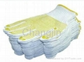 knit glove cotton glove with PVC dots 4