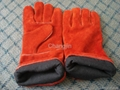 red cow leather welding glove 2