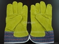cheap yellow leather working glove 3