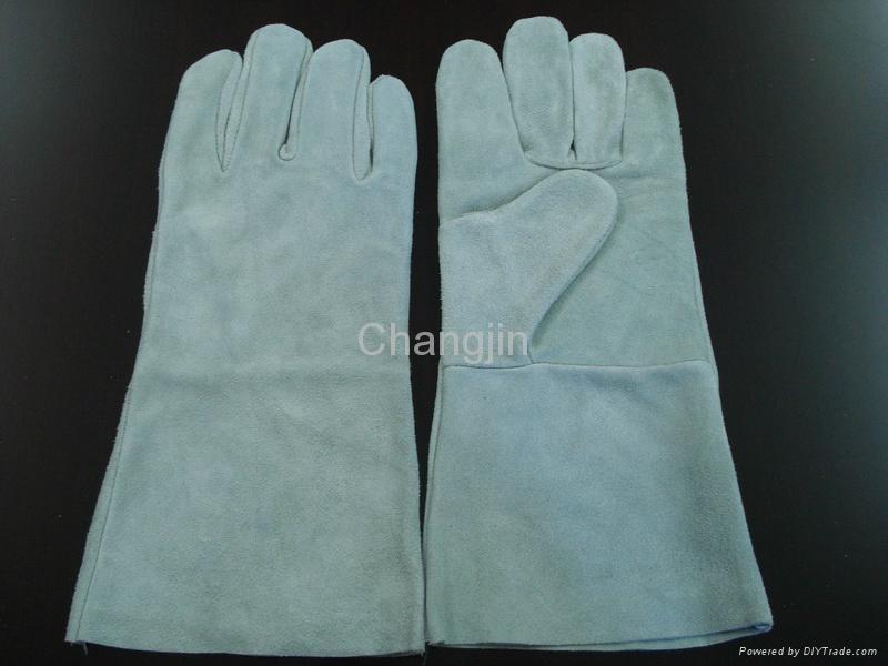 black color cow split leather welding glove 3