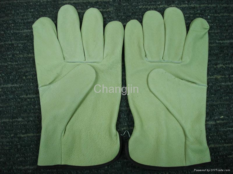 Pig leather driver glove 4