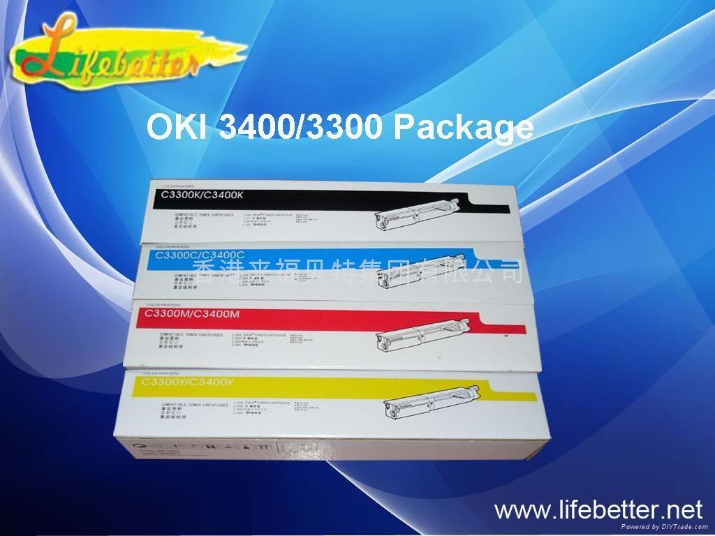 国产代用 OKI C3400粉盒 OKI3400墨粉 OKI C3400碳粉 1