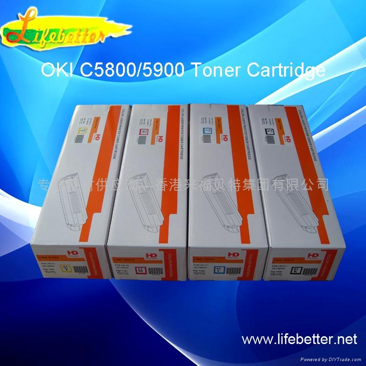 国产代用OKI C5850粉盒 OKI5850墨粉 OKI C5850碳粉匣 1