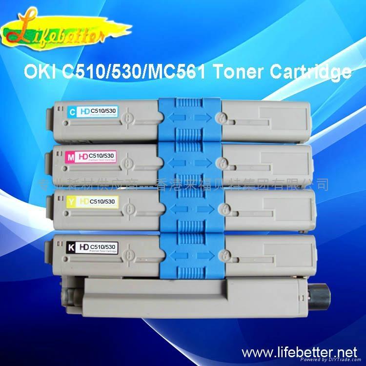 兼容OKI C510粉盒 OKI510墨粉 OKI C510dn碳粉 1