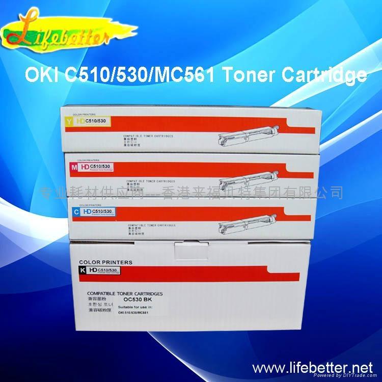 兼容OKI C510粉盒 OKI510墨粉 OKI C510dn碳粉 2