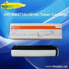 国产代用OKI MB491粉盒 OKI491碳粉 OKI M