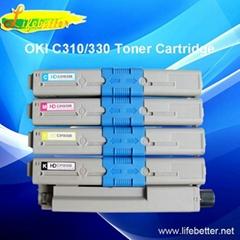 国产代用OKI C330dn墨粉 OKI330dn 粉盒 OKI C330dn碳粉匣