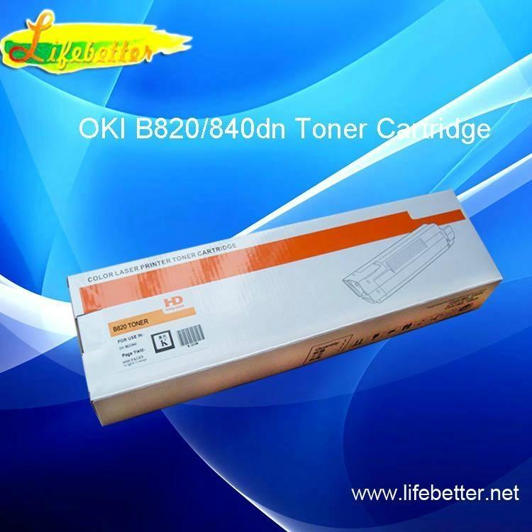再生代用OKI820粉盒 OKI B820dn墨粉 OKIB820碳粉匣 1