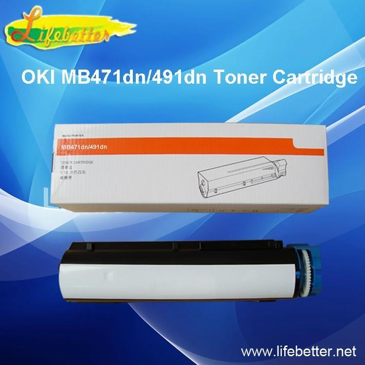 全新代用OKI MB491dn粉盒 OKIMB491墨粉 OKI491碳粉匣 1