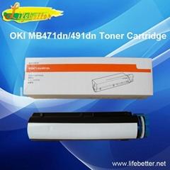 全新代用OKI MB491dn粉盒 OKIMB491墨粉 OKI491碳粉匣