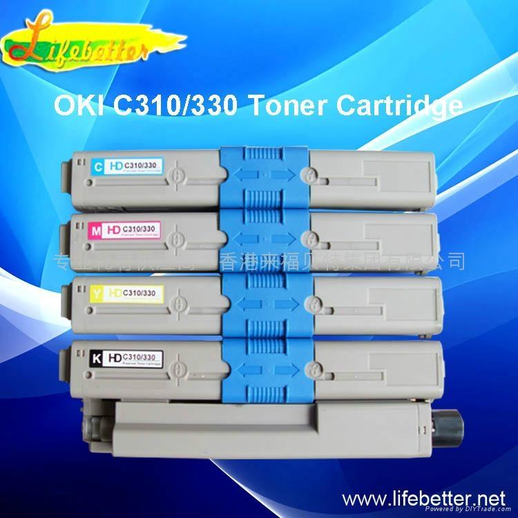 国产代用 OKI C310墨粉匣 OKI310粉盒 OKI310墨粉 1