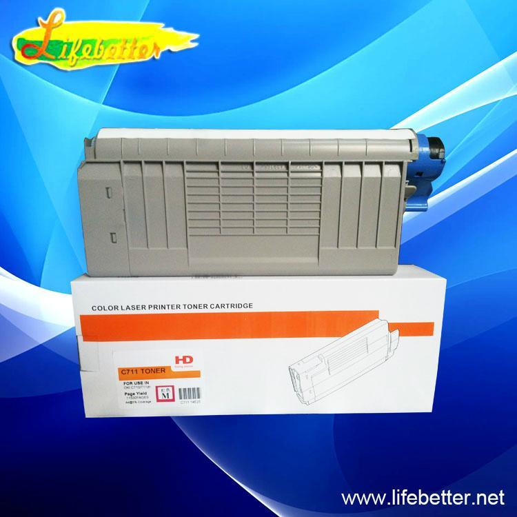 全新代用OKI C711空匣 OKI C711空粉匣 OKI711胶件 1