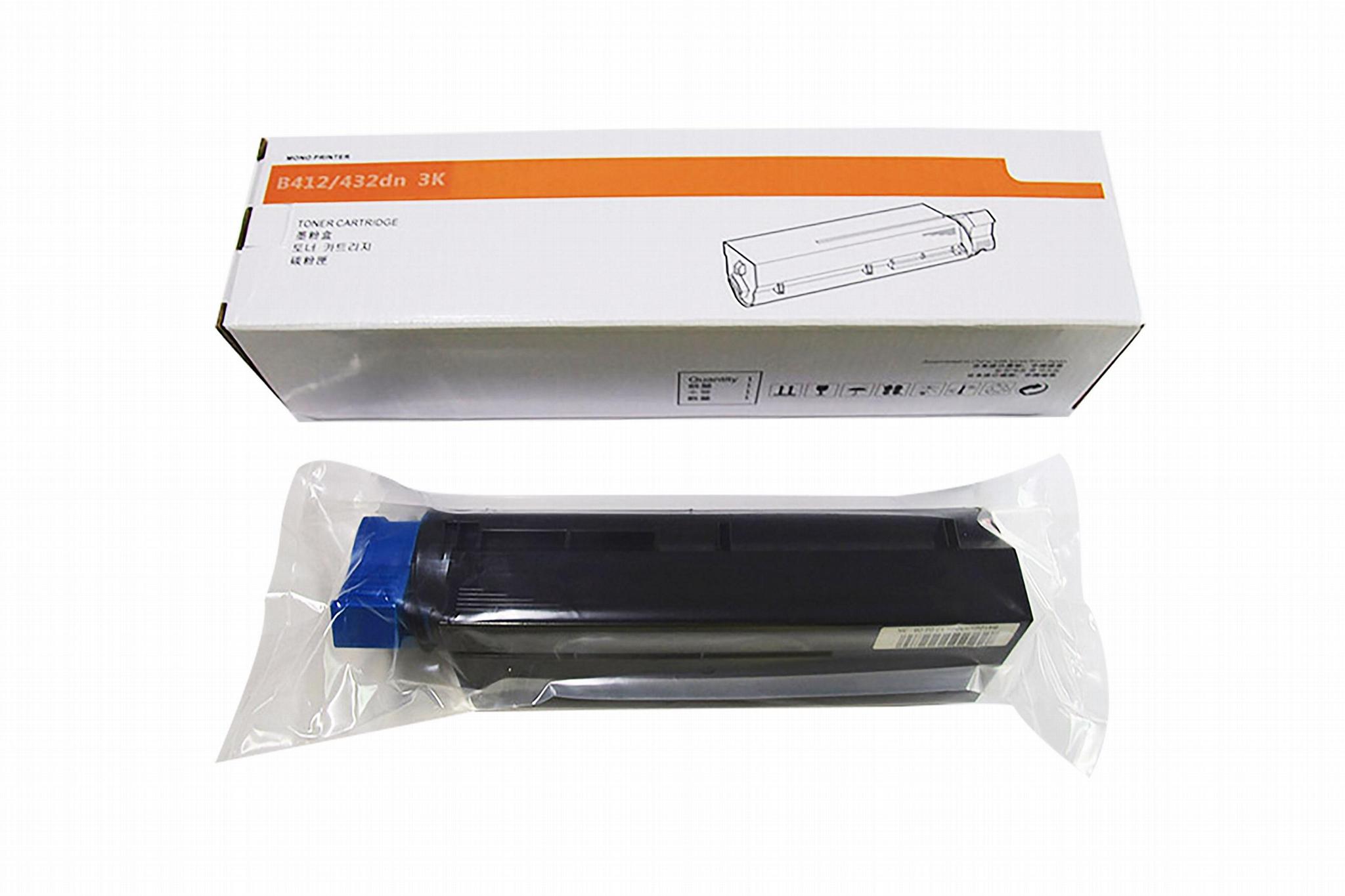 优质墨粉3K可替代OKI45807101适用OKI B412dn/B512dn/B432dn/MB472W/MB492