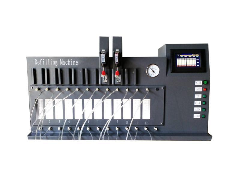 來福貝特CS12型12路 微電腦控制 彩色觸摸屏 真空注墨機 1