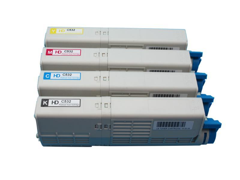 全新粉盒适用于 OKI C532dn MC573dn美洲打印机 2