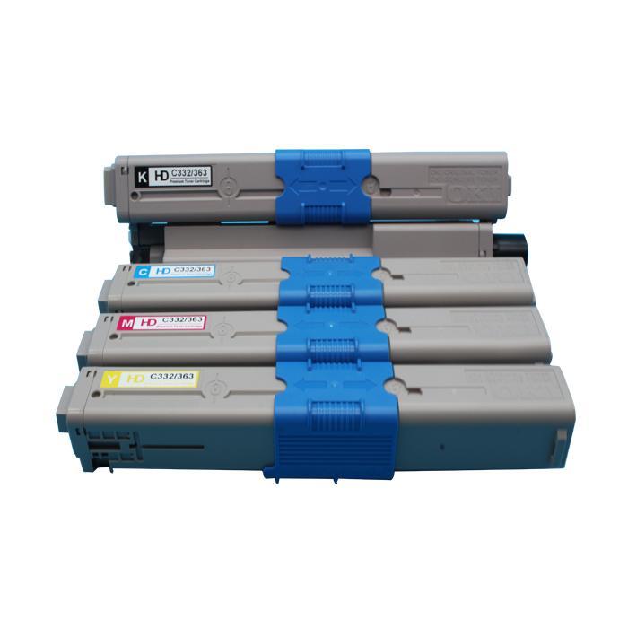 国产代用 适用OKI C332dn粉盒 OKI MC363dn墨粉 1