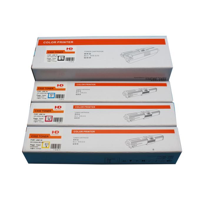 国产代用 适用OKI C332dn粉盒 OKI MC363dn墨粉 2