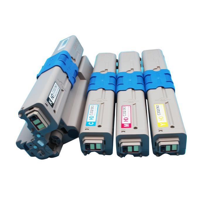 国产代用 适用OKI C332dn粉盒 OKI MC363dn墨粉 3