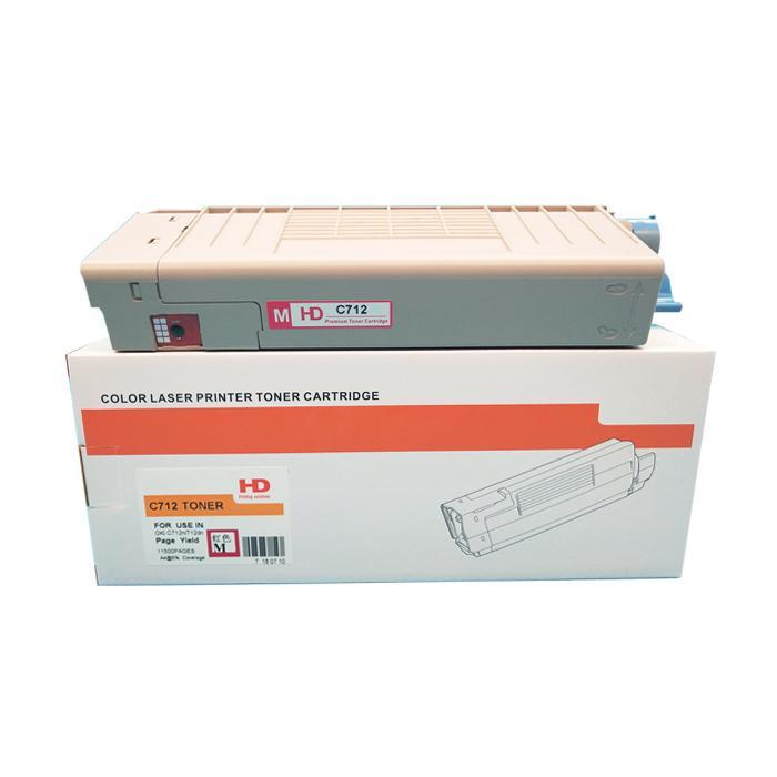 國產代用粉盒 適用於 OKI C712 C712N C712DN C712DNW 2
