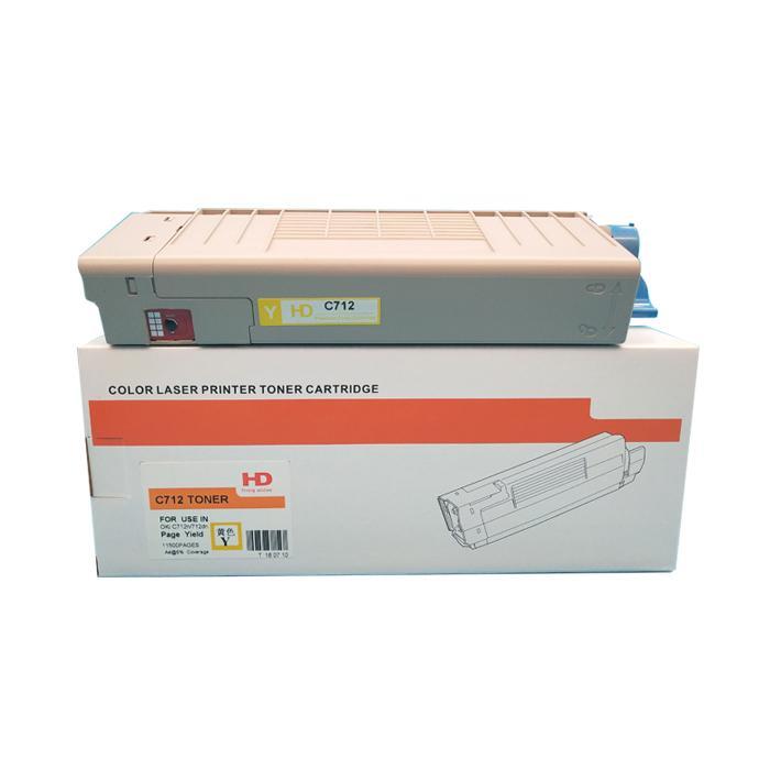 国产代用粉盒 适用于 OKI C712 C712N C712DN C712DNW 3