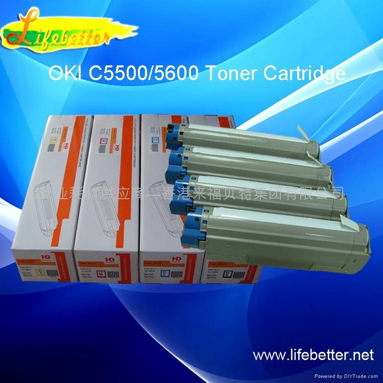 国产代用 OKI C5600粉盒 OKI5600墨粉 OKI C5600碳粉匣 OKI5600碳粉 1