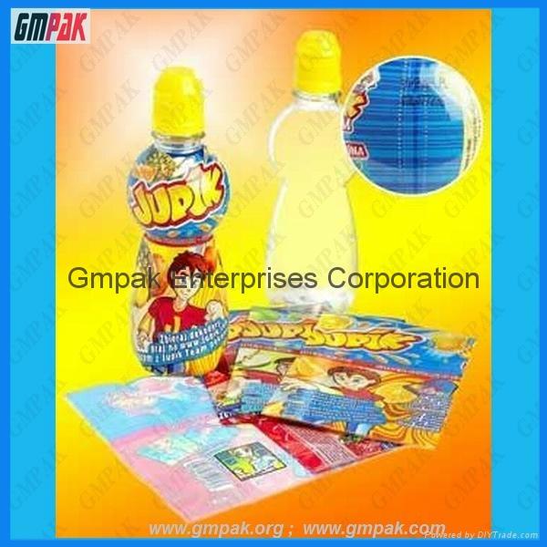 customized plastic shrink wrap bottle labels in rolls 1