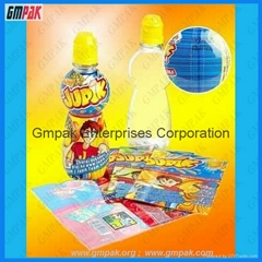 customized plastic shrink wrap bottle labels in rolls