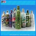 customized plastic shrink wrap bottle labels in rolls 4