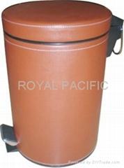 酒店皮革垃圾桶