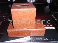 leather square tissue box