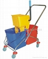 twin mop bucket with wringer